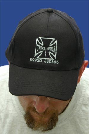 Description: Baseball Cap Trike Design Maltese Cross Logo