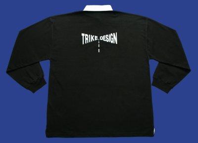 Description: Rugby Shirt - Hankschopshop logo on front, trike design logo on back